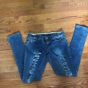 Zana di ripped skinny jeans size 7 like new